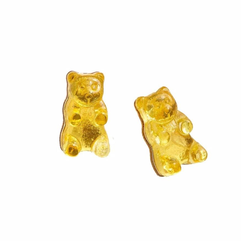 Gummy Bear Earrings-Yellow Lemon