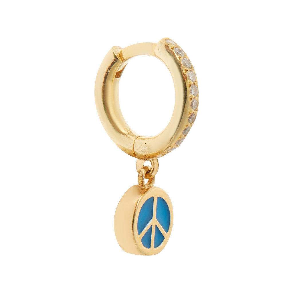 Enamel Peace Blue Hoop