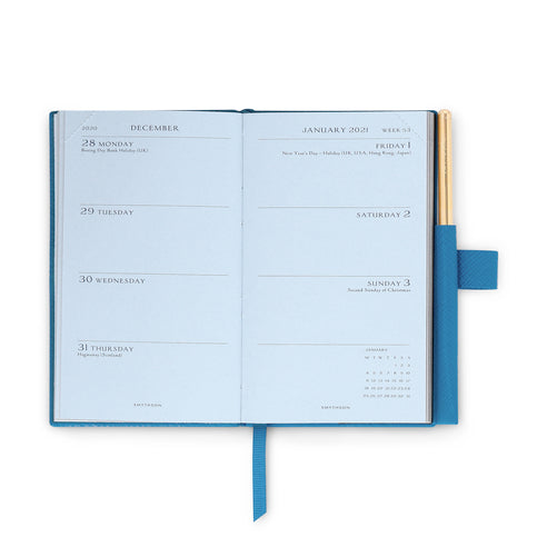 Ежедневник 2021 Panama Diary With Gilt Pencil Blue