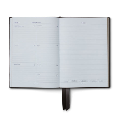 Ежедневник 2021 Port Diary With Pocket Black