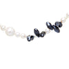 Black And White Crystal Pearl Necklace