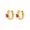 Vinous Gem Earrings