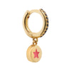 Enamel Star Mini Hoop