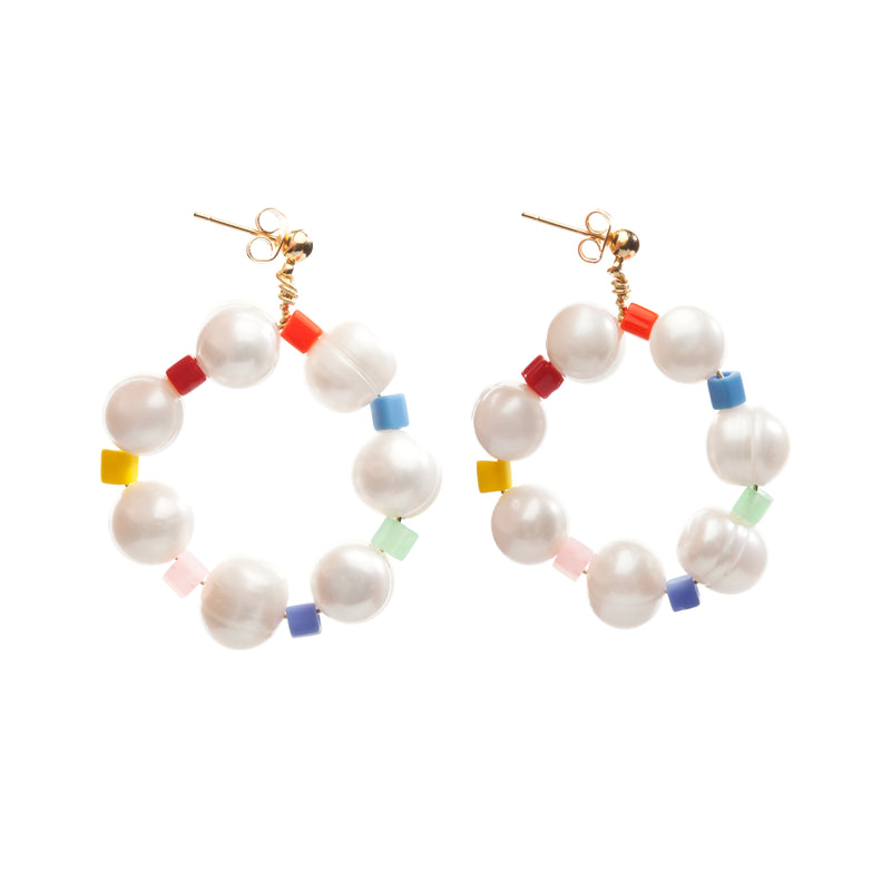 Rainbow Pearl Earrings