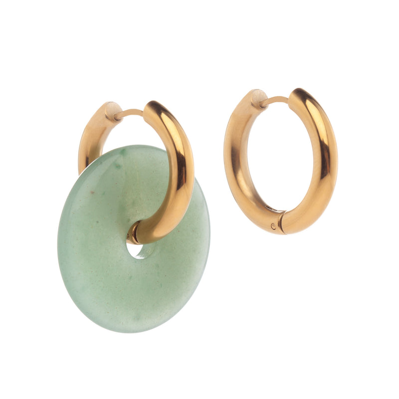 Mismatched Jade Earrings Green
