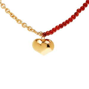 Gold Big Heart Necklace