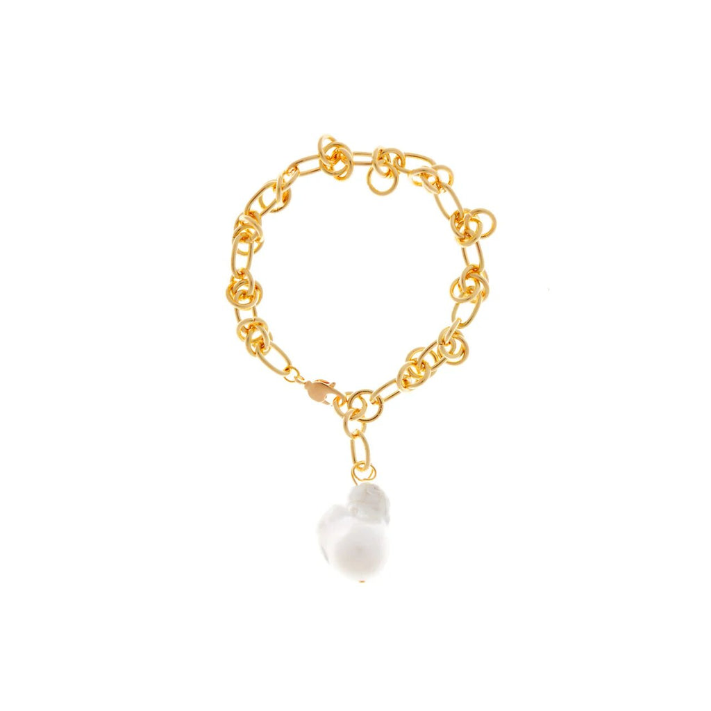 Gold Bracelet With Baroque Pearl