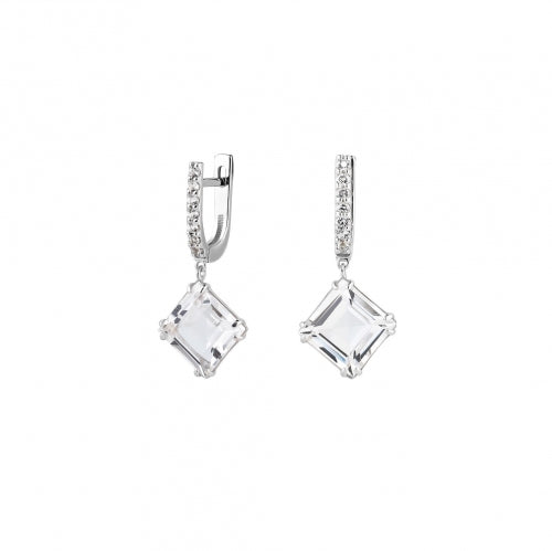 Small Earrings with Rhinestone