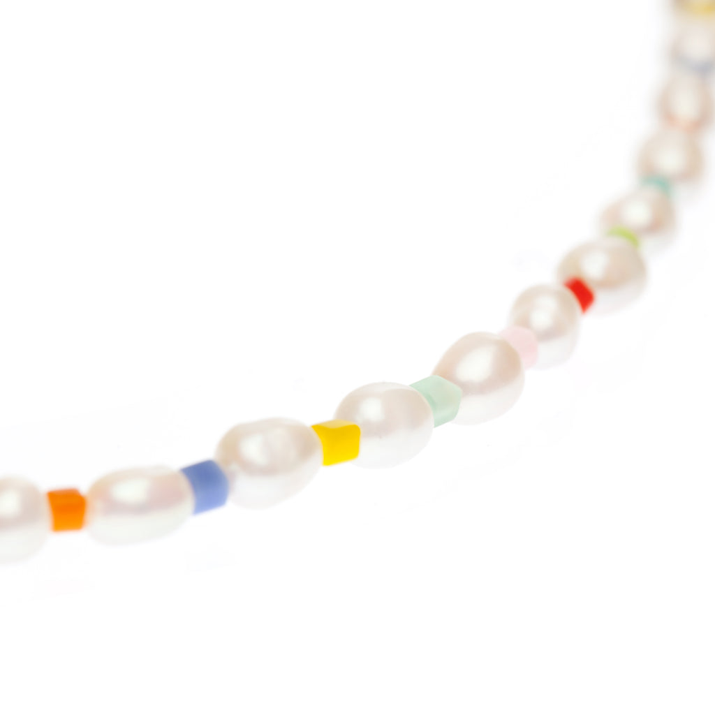 Tiny Rainbow Pearl Glasses Chain