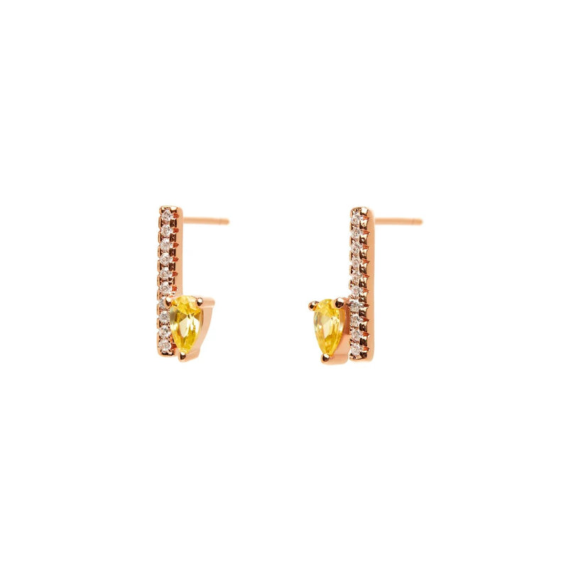 Yellow Rose Gold Drop Earrings