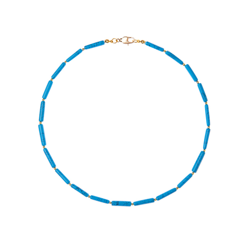 Turquoise Tube Necklace