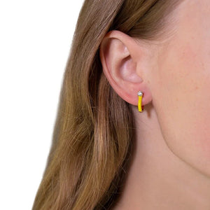 Arch Earrings - Dirty Yellow