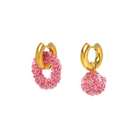 Mismatched Pink Curls Earrings