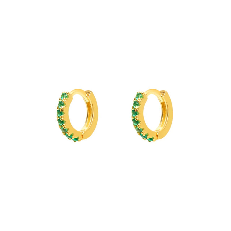 Micro Gold Green Hoops