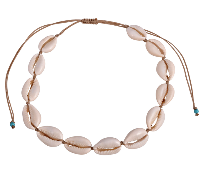 The Natural Cowrie Choker