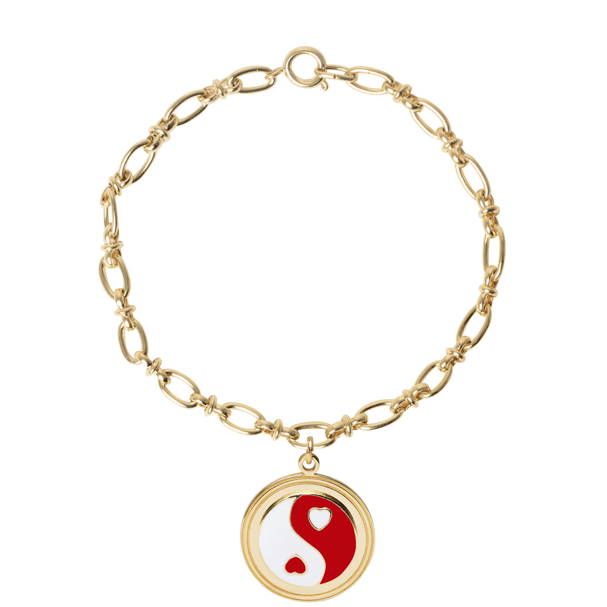 Gold YinYang Red Bracelet