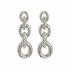 The Pave Loop Studs - Silver