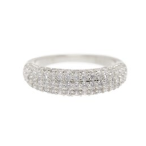 The Pave Tube Ring - Silver