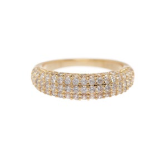 The Pave Tube Ring - Gold