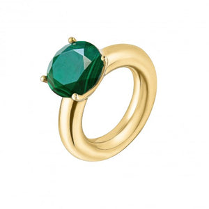 Cartoon Ring With Malachite