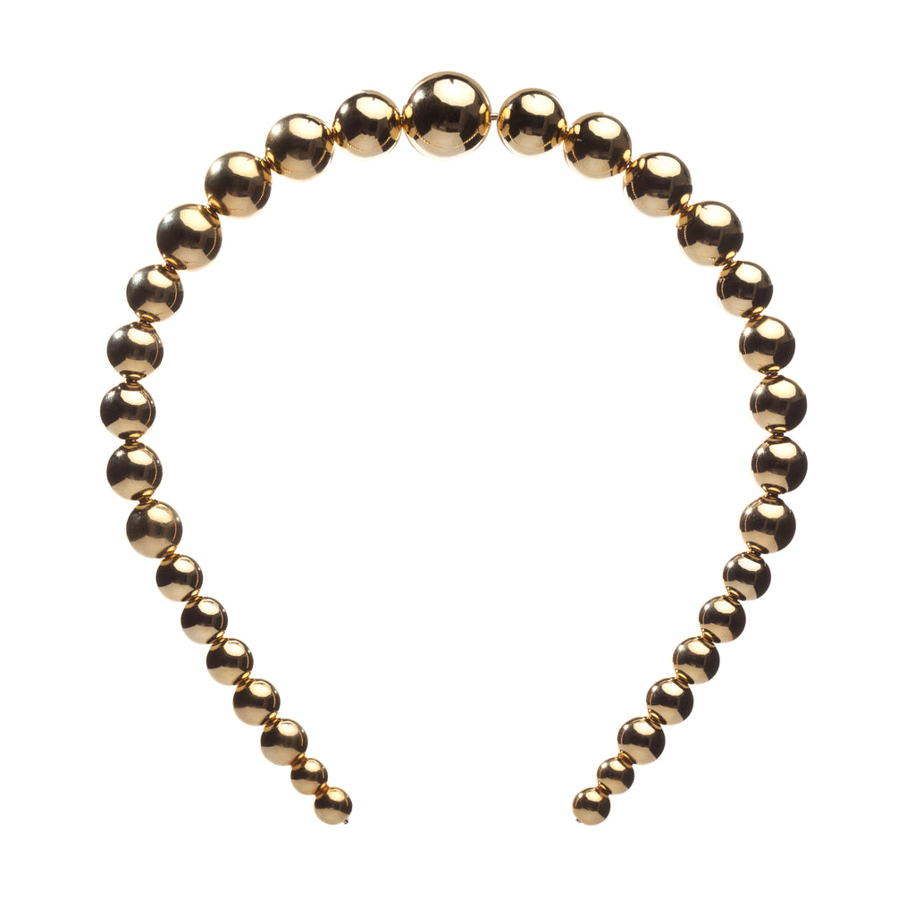 Gold Beads Hair Band