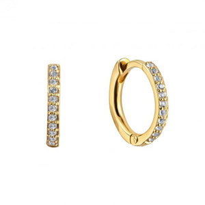 Pave Gold Earrings Clicker