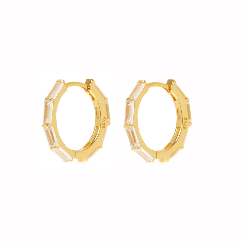 Chrystal Rect Earrings