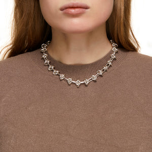 Silver Entrelacs Necklace