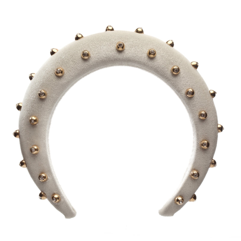 White with Beads Hair Band