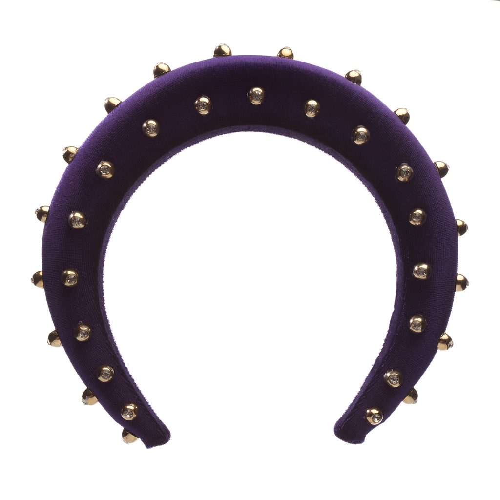 Purple with Beads Hair Band