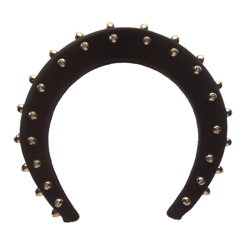 Black with Beads Hair Band