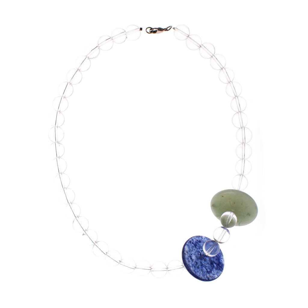 Glass Disk Necklace