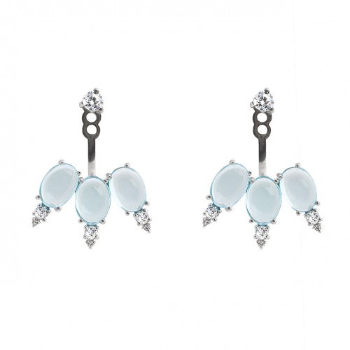 Earrings with Topaz