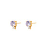 Double Lavender Gem Earrings