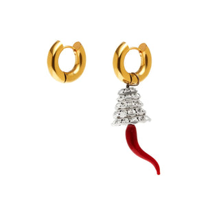 Gold Earrings & Tree With Pepper
