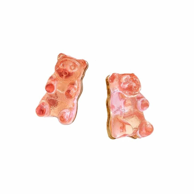 Gummy Bear Earrings-Pink Raspberry