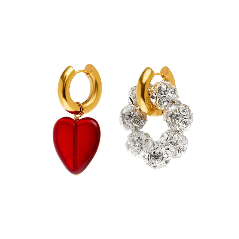 Corazon And Crystal Earrings
