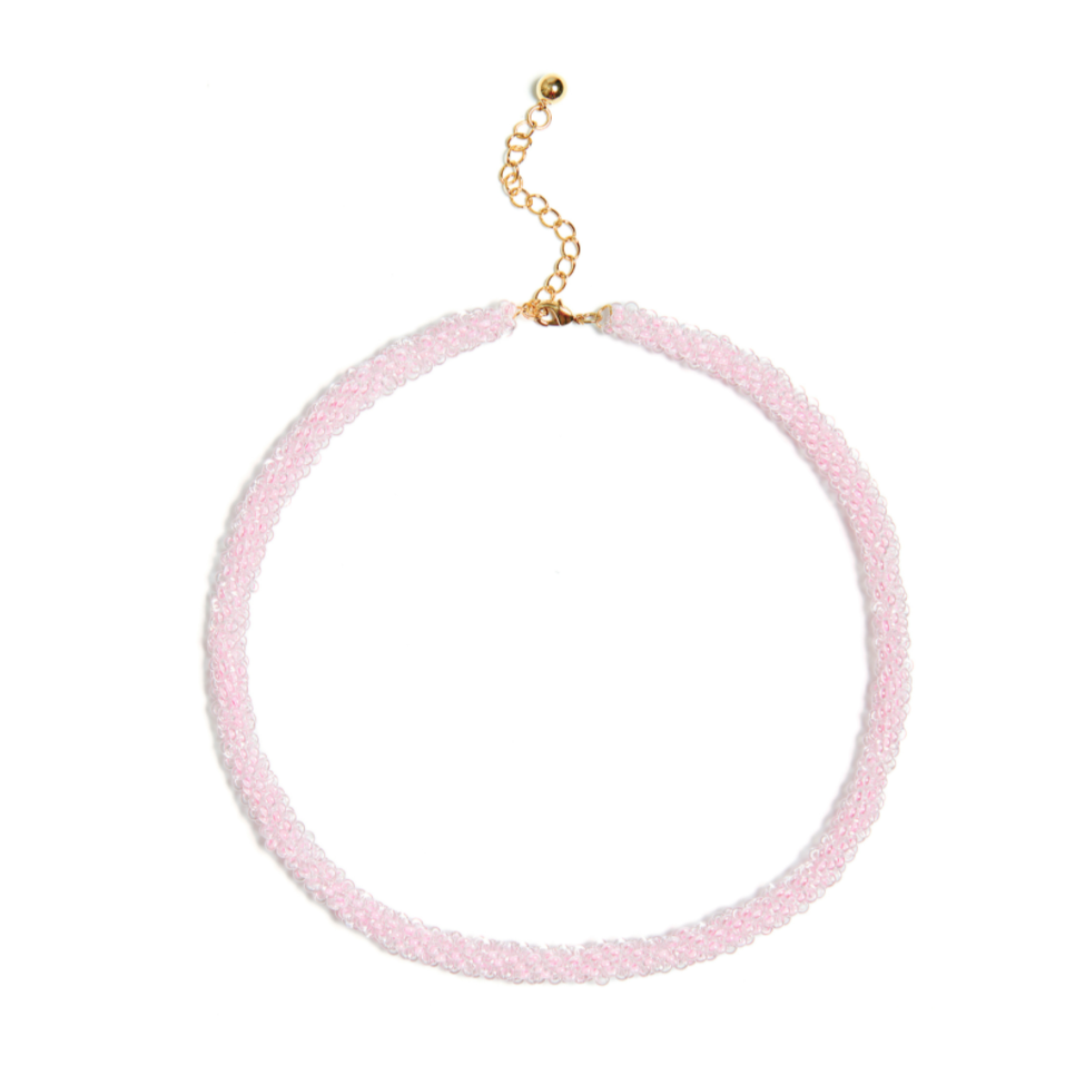 Pink Evening Necklace
