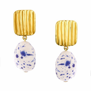 Misha White&Blue Earrings