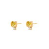 Double Yellow Gem Earrings
