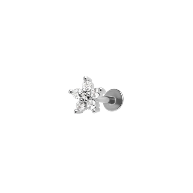 Chrystal Flower Earring