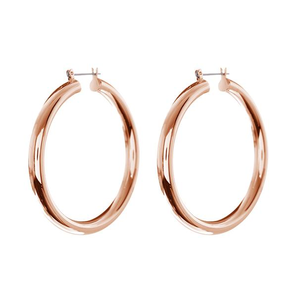 Amalfi Tube Hoops- Rose