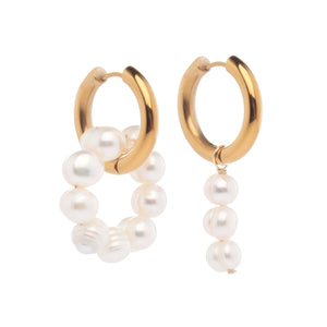 Mismatched Pearl Earrings