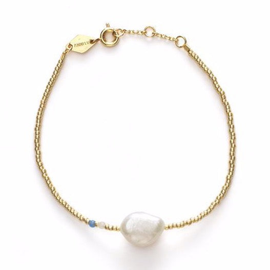 Baroque Pearl Bracelet - Cloud Blue
