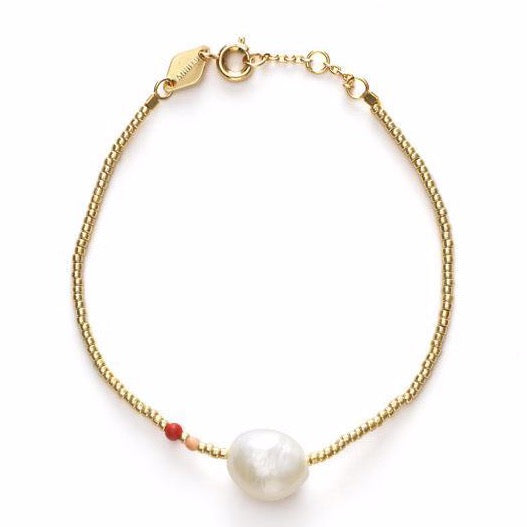 Baroque Pearl Bracelet - Hot Coral