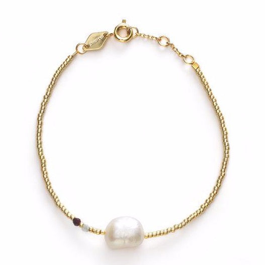 Baroque Pearl Bracelet - Laurel Green