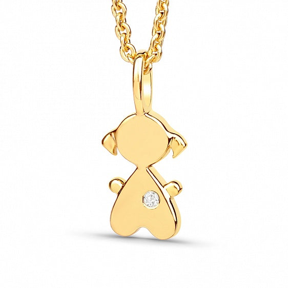 Baby Girl Pendant - Gold