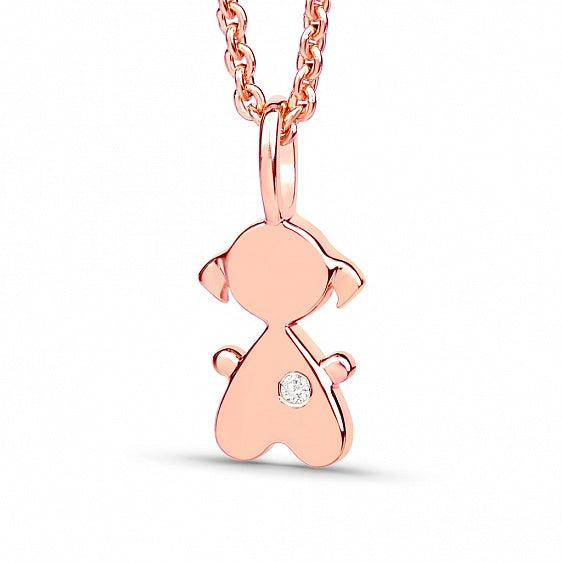 Baby Girl Pendant - Rose Gold