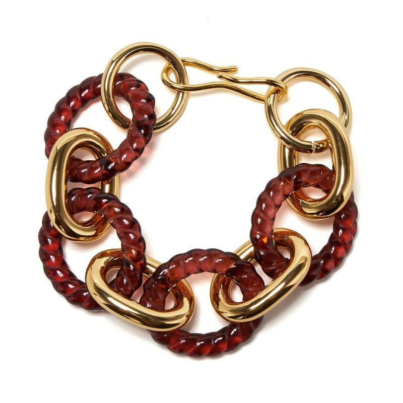 Mirrored Sea Bracelet In Wine
