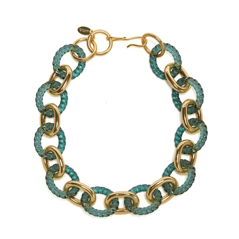 Mirrored Sea Necklace In Green